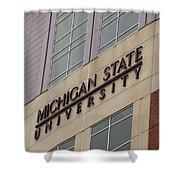 Michigan State University Signage 02 Shower Curtain