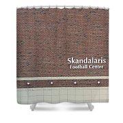 Michigan State University Skandalaris Football Center Signage Shower Curtain