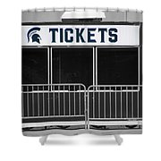 Michigan State University Tickets Booth Sc Signage Shower Curtain