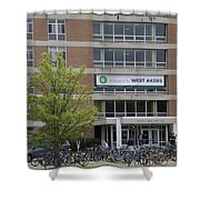 Michigan State University Welcome To Akers Signage Shower Curtain