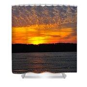 Michigan Sunset Shower Curtain