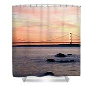 Michigan's Mackinac Bridge Shower Curtain