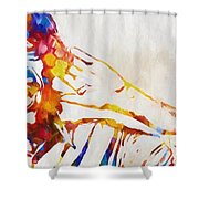 Mick Jagger Abstract Shower Curtain