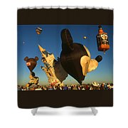 Mickey Mouse And Friends - Hot Air Balloons Shower Curtain
