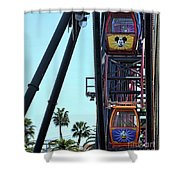 Mickey Donald Ferris Wheel California  Shower Curtain