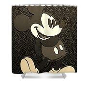 Mickey Mat Sepia Shower Curtain