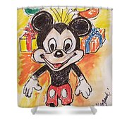 Mickey Mouse 90th Birthday Celebration Shower Curtain