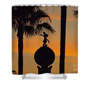 Mickey Mouse Sihouette Shower Curtain