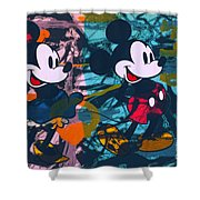 Mickey Mouse Vs. Minnie Mouse Stage On Shower Curtain
