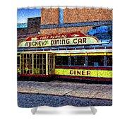 Mickey's Dining Car Shower Curtain