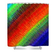Micro Linear Rainbow Shower Curtain