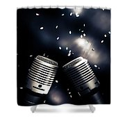 Microphone Club Shower Curtain