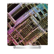 Microprocessors Shower Curtain