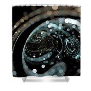 Microscopic IIi - Opale Shower Curtain by Sandra Hoefer