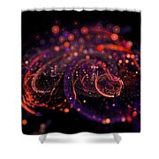 Microscopic Iv - Glass Jewels Shower Curtain