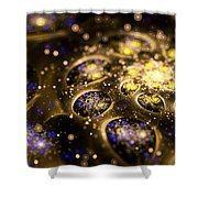 Microskopic Vii - Galaxy Shower Curtain