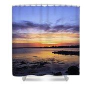 Mid April Sunset Shower Curtain