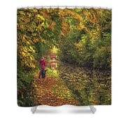 Mid Autumn On The Grand Union No 2 Shower Curtain