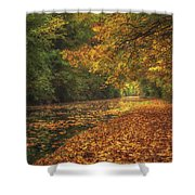 Mid Autumn On The Grand Union No 4 Shower Curtain
