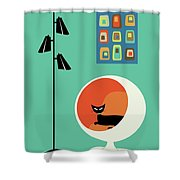 Mid Century Mini Oblongs Shower Curtain