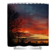 Mid-january Sunset Shower Curtain