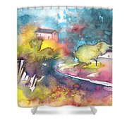 Midday 17 Shower Curtain