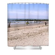 Midday At Venice Beach Shower Curtain