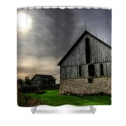 Midday Barn Shower Curtain