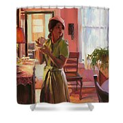 Midday Tea Shower Curtain