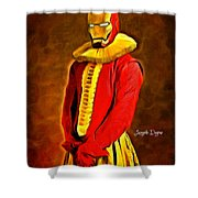 Middle Ages Iron Man Shower Curtain
