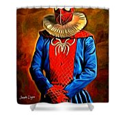 Middle Ages Spider Man Shower Curtain