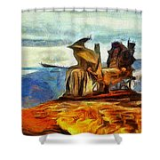Middle Earth Airliner 3 - Da Shower Curtain
