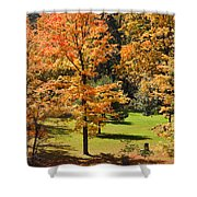Middle Falls Viewpoint In Letchworth State Park Shower Curtain