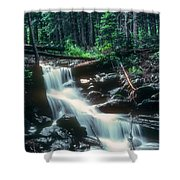Middle Fork Red River Falls Shower Curtain