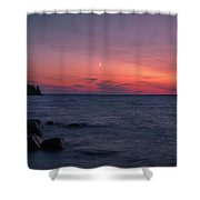 Middle Moon Shower Curtain