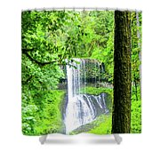 Middle North Falls 5 Shower Curtain