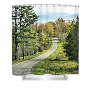 Middle Road In Autumn Shower Curtain