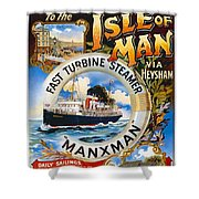 Midland Railway, Steam Boat, Isle Of Man, Poster Shower Curtain
