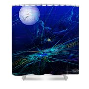 Midnight Abstract Shower Curtain