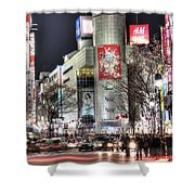 Midnight At Shibuya Shower Curtain