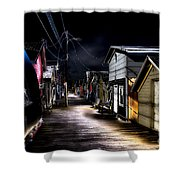 Midnight At The Boathouse Shower Curtain