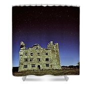 Midnight Blue At Leamanch Castle The Gateway To The Burren Shower Curtain
