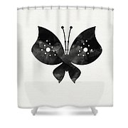 Midnight Butterfly 2- Art By Linda Woods Shower Curtain