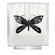 Midnight Butterfly 4- Art By Linda Woods Shower Curtain by Linda Woods