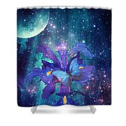 Midnight Butterfly Shower Curtain