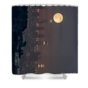 Midnight City  Shower Curtain