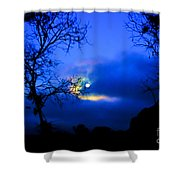 Midnight Clouds Shower Curtain