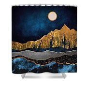 Midnight Desert Moon Shower Curtain