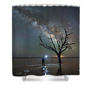 Midnight Explorer At Botany Bay Beach Shower Curtain