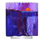 Midnight Glow Abstract Shower Curtain
